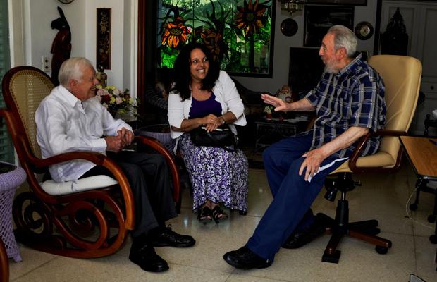O ex-presidente dos EUA Jimmy Carter tem encontro com Fidel Castro nesta quarta-feira - Crédito: Foto: Reuters
