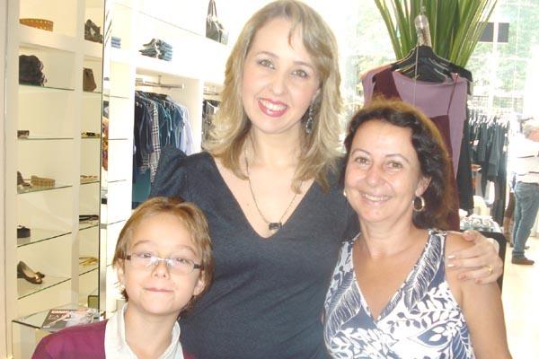 Pedro, Andréa e Angelina -