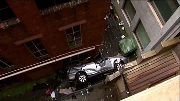 Carro acidentado nesta segunda-feira - Crédito: Foto: BBC