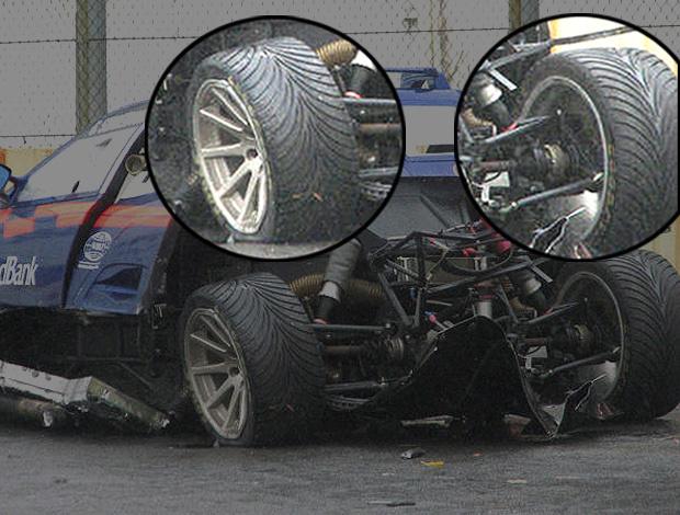 Carro de Sonderman com os pneus montados de forma inversa - Crédito: Foto: Felipe Vieira / VelocidadeSul.com