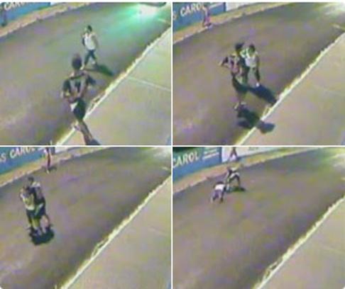 Câmera flagra agressão a idosa durante assalto no interior de SP -