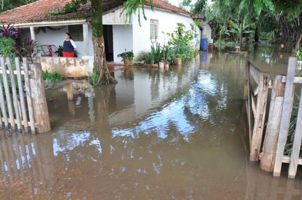 Estância Betel onde a casa do sitiante estava inundada no sábado - Crédito: Foto : MS Cidades