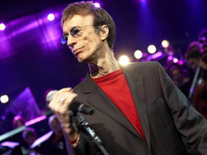 O cantor Robin Gibb - Crédito: Foto: Divulgação