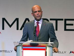 Michel Martelly em discurso nesta terça - Crédito: Foto: Ramon Espinosa/AP