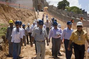Técnicos avaliaram canteiro de obra da Fonte Nova  - Crédito: Foto: Divulgação/Ascom