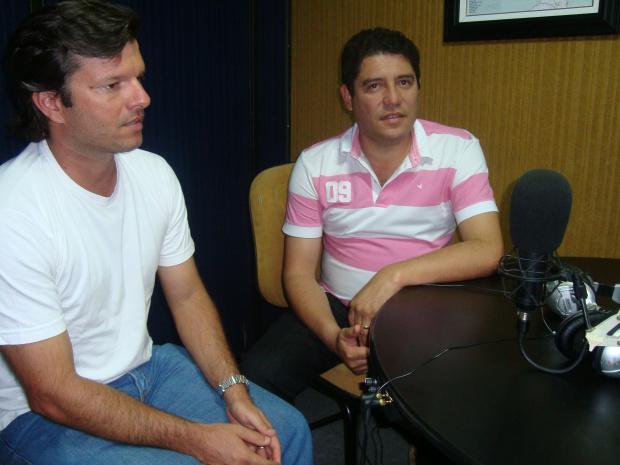 Prefeito Celso Vargas e o presidente do Sindicato Rural de Maracaju - Crédito: Foto :  Divulgação