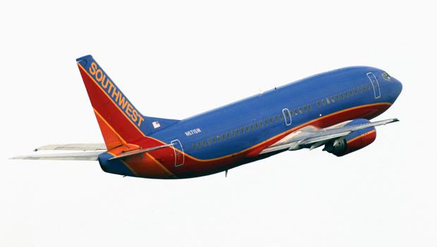 Boeing 737-300 da Southwest Airlines, em foto tirada no início de 2010 - Crédito: Foto: AP