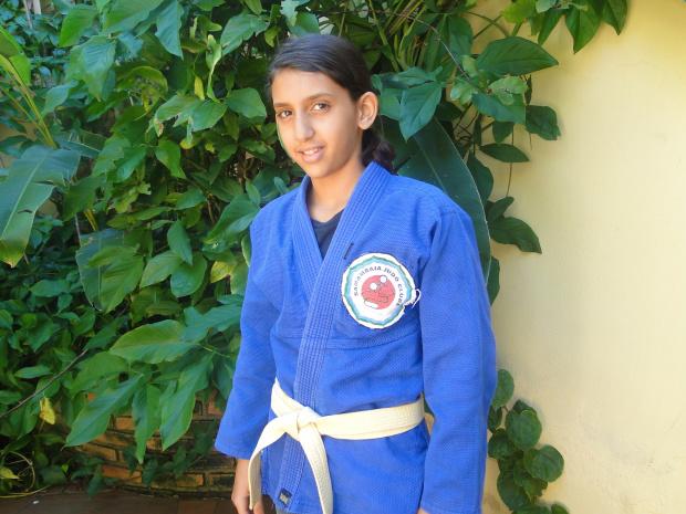 Judoca Nathaly Rebeca representa no campeonato a Academia Clube Samambaia - Crédito: Foto: Divulgação