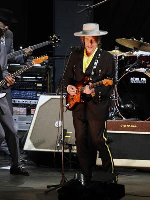 Bob Dylan em show na China nesta quarta-feira - Crédito: Foto: Reuters