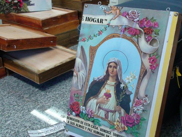 Maconha foi encontrada em quadros com imagens religiosas - Crédito: Foto: Divulgação/Polícia Federal