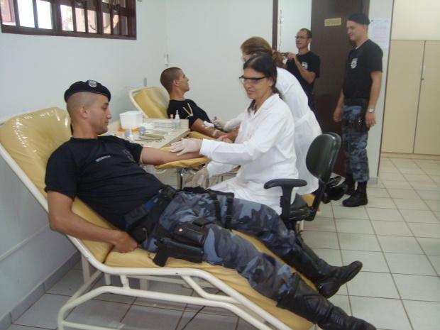 Militares do 3º BPM de Dourados são doadores assíduos de sangue - Crédito: Foto : Cido Costa/Douradosagora