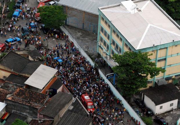Escola onde aconteceu a tragédia no Rio Foto: G1 -