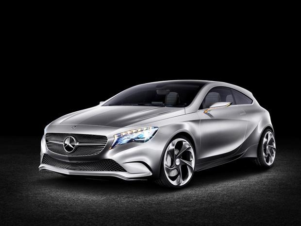 Mercedes-Benz Concept A-Class tem frente inspirada em um céu estrelado - Crédito: Foto: Divulgação