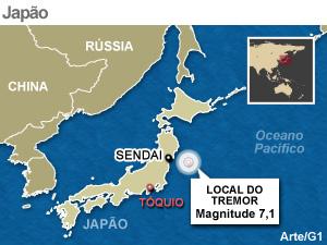Após forte tremor de magnitude 7,1, alerta de tsunami é cancelado no Japão  -