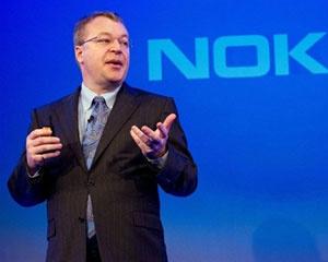 Presidente da Nokia, Stephen Elop, em anúncio com a Microsoft - Crédito: Foto: Leon Neal/AFP