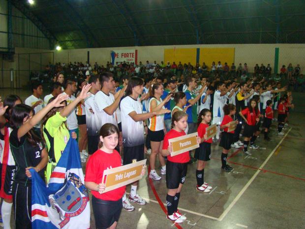 Várias equipes disputam o Jams; competições vão até domingo em Amambai - Crédito: Foto : Vilson Nascimento