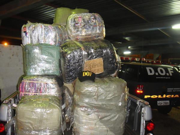 Maconha geralmente é transportada em grande escala - Crédito: Foto: Divulgação