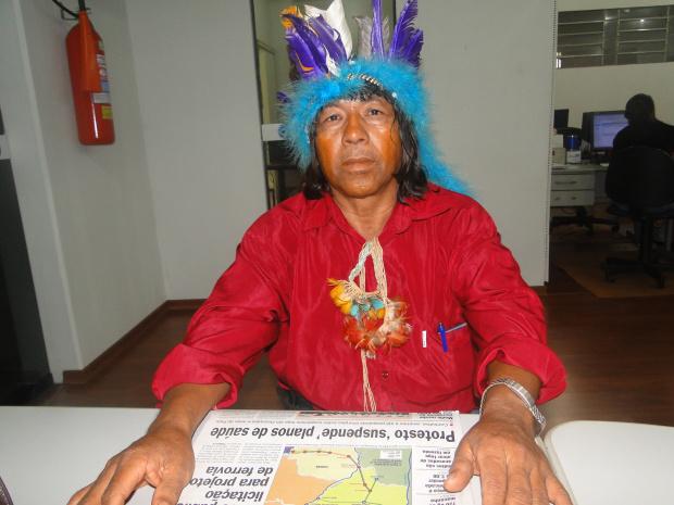 Cacique Renato quer policiamento nas aldeias - Crédito: Foto: Divulgação
