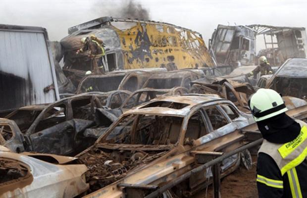 Pelo menos cinco pessoas morreram nesta sexta-feira - Crédito: Foto: AFP