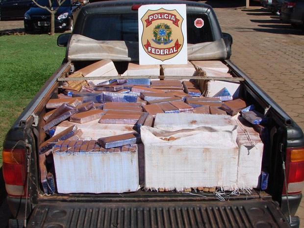720 quilos de maconha apreendidos em Mato Grosso do Sul - Crédito: Foto: Divulgação/PF