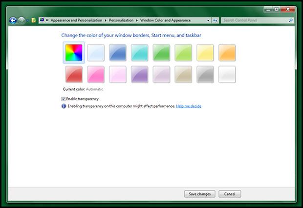 Novo recurso que deixa as bordas com a cor do papel de parede só funciona com o \'Aero\' habilitado - Crédito: Foto: Reprodução/WithinWindows