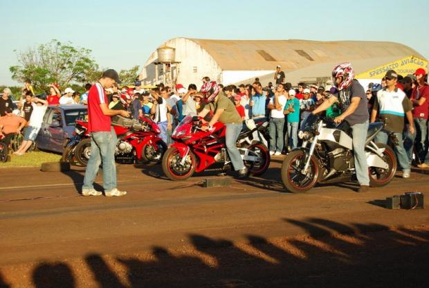 Três categorias vão participar do Festival de Arrancadão de motos em Dourados - Crédito: Foto: Divulgação