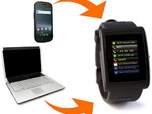 Relógio roda aplicativos e permite programação  - Crédito: Foto: Reprodução/GetInpulse
