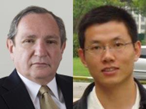George Friedman, autor do best-seller \'The Next Decade\'  e o chinês Zhou Zhiwei, secretário de centro de estudos brasileiros em Pequim - Crédito: Foto: Divulgação