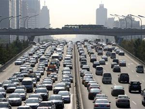 Movimento de carros em Pequim, China - Crédito: Foto: AFP