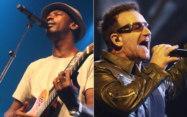 O cantor Seu Jorge, que cantará ao lado de Bono no último show do U2 no Morumbi nesta quarta - Crédito: Divulgação