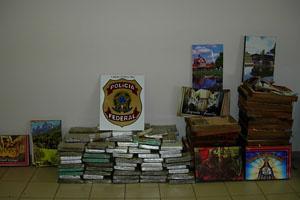 Polícia Federal apreende droga transportada em quadros - Crédito: Foto: Polícia Federal de Minas Gerais/Divulgação