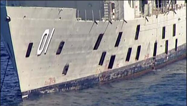 O navio desativado - Crédito: Foto: BBC
