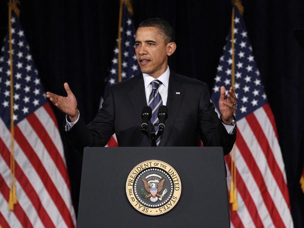 O presidente dos EUA, Barack Obama, anuncia seu plano para reduzir o déficit público, nesta quarta-feira - Crédito: Foto: AFP
