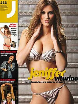 A modelo Jennifer Viturino em capa de revista/  - Crédito: Foto: Reprodução/Correio da Manhã