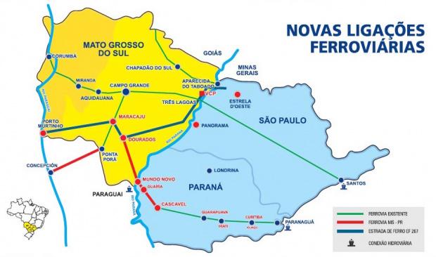 Geraldo discutiu com o ministro dos Transportes implantação da Ferrovia - Crédito: Foto : Divulgação