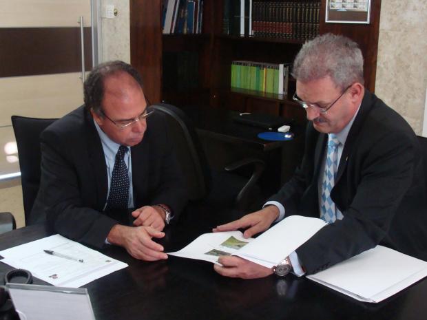 Geraldo obtém do ministro promessa de liberação de recursos - Crédito: Foto: Rodrigo Pael/Brasília
