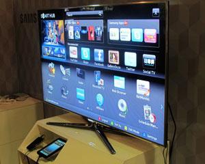 TV inteligente da Samsung  - Crédito: Foto: Laura Brentano/G1