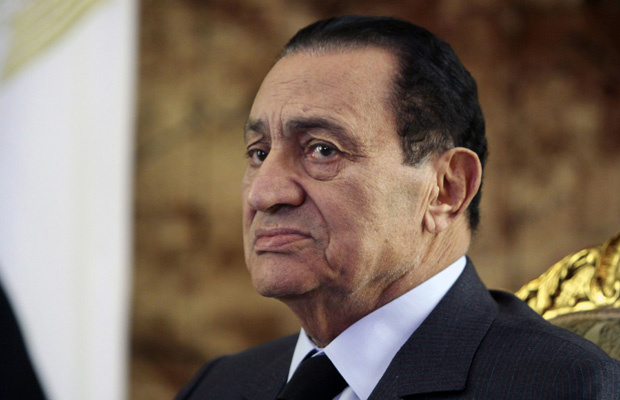 O então presidente do Egito, Hosni Mubarak, em 19 de outubro de 2010 - Crédito: Foto: AP