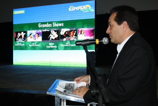 Marisvaldo Zeuli durante o lançamento oficial da 47ª Exposição Agropecuária de Dourados - Crédito: Foto: Hédio Fazan/PROGRESSO