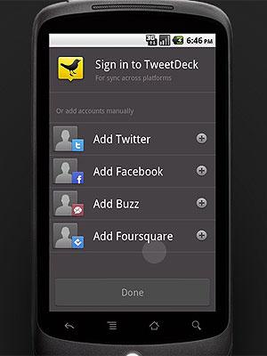 O TweetDeck já está disponível para celulares com Android - Crédito: Foto: Reprodução