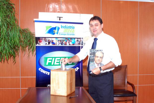 Sérgio Longen foi reeleito para um mandato de mais quatro anos na Fiems - Crédito: Foto : Divulgação