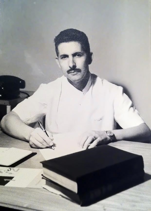 Júlio Capilé em início da carreira de médico no Rio de Janeiro - Crédito: Foto : Divulgação
