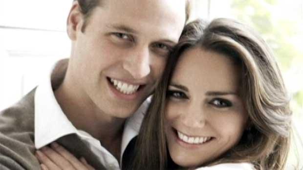 O príncipe William e Kate Middleton - Crédito: Foto: Rede Globo