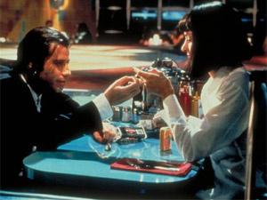 John Travolta e Uma Thurman em cena do clássico pop \'Pulp Fiction\' - Crédito: Foto: Divulgação