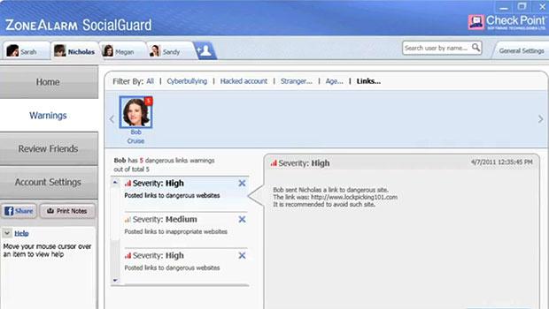 Programa monitora as atividades dos filhos no Facebook e envia alertas aos pais - Crédito: Foto: Reprodução