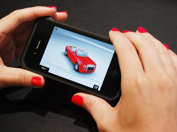 Aplicativo da Rolls-Royce é gratuito - Crédito: Foto: Divulgação