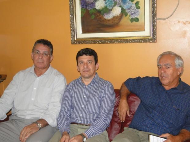 Eduardo Machado, Ildemar Berbert e Odilon Azambuja, em O PROGRESSO - Crédito: Foto: Divulgação