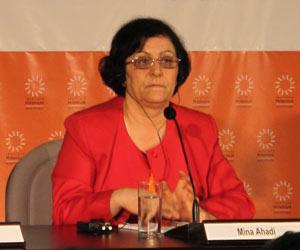 A ativista iraniana Mina Ahadi durante evento sobre direitos humanos e democracia em São Paulo  - Crédito: Foto: Amauri Arrais / G1