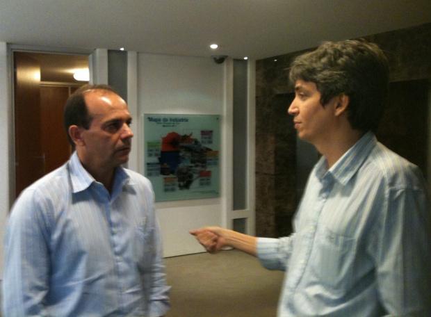 Presidentes do Sindivest/MS José Francisco e do Sinvesul Gilson Kleber - Crédito: Foto : divulgação