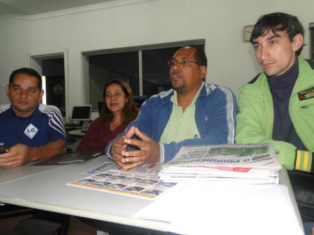 Diretores do PSC durante visita ao O PROGRESSO: partido vai lançar candidato próprio - Crédito: Foto: O Progresso